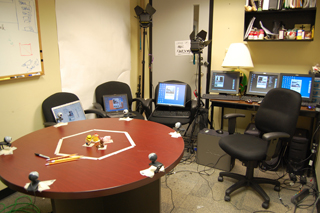 Six Webcams and computers.