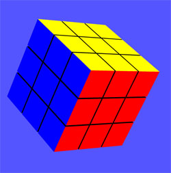 Rubik's Cube (set up in 8 lines of code)