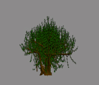 Second Life Tree using Two Intersecting Planes