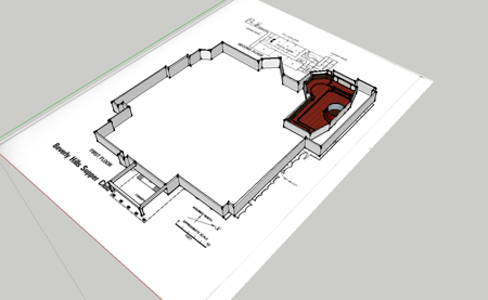 Building Outline Around Room 1