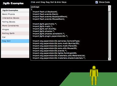 Jiglib Examples using Flex Modules